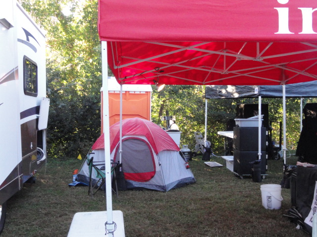 photo of caryn's tent at the cook site