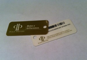 photo by caryn of pto supplied fundraising key tags