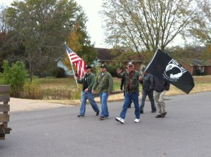 veterans walking in nolensville veterans day parade