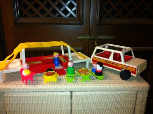 phoyo by caryn of the fisher price little people set