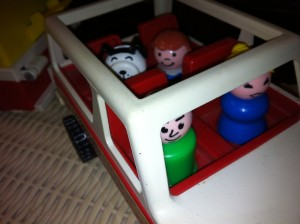 photo by caryn of the fisher price little people from the camper