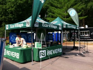 reverb tent and solar stage at the woods at fontanel