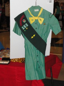 photo by caryn of a vintage 1960s girl scout uniform donated to council
