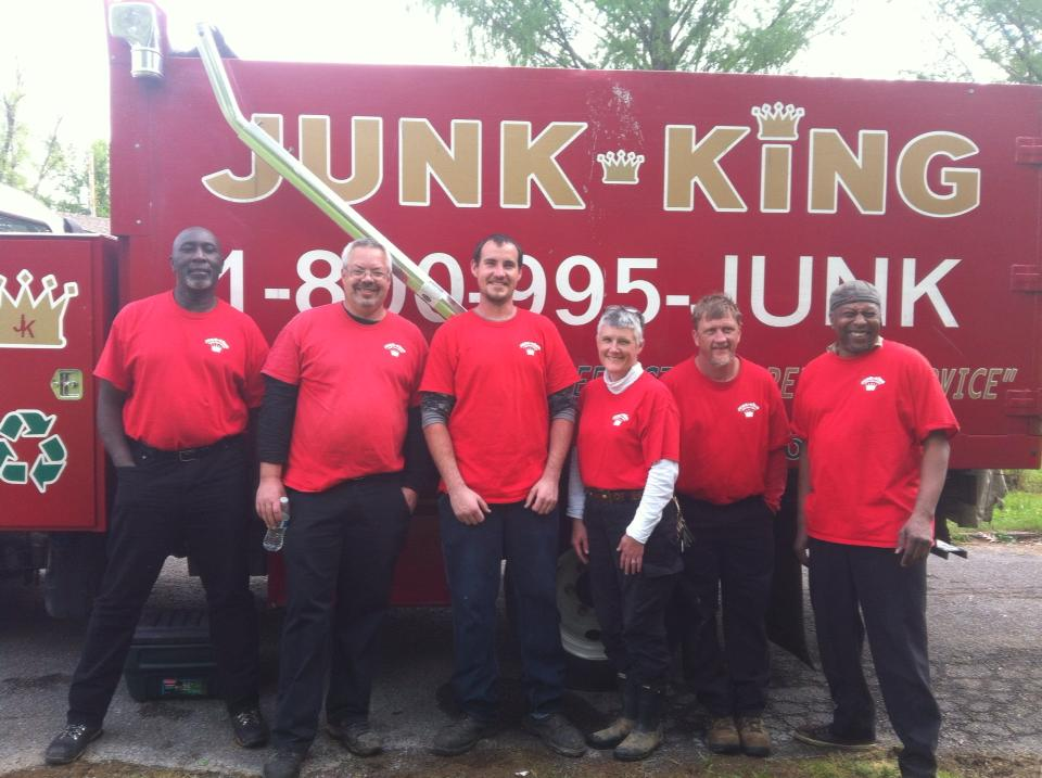photo courtesy of junk king of nashville of our crew after filming an episode of 'hoarding: buried alive!