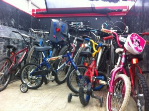 bicycles donated by junk king of nashville to the oasis center's program
