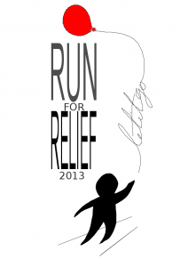 graphic for the run for relief