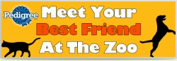 graphic from pedigree for meet you best friend at the zoo day
