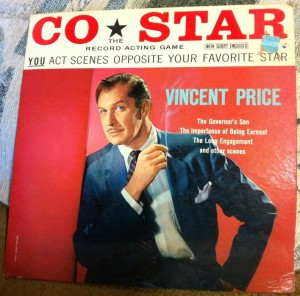 Vinyl LP from the Co-Star Series - You can act along with Vincent Price! Photo by Caryn