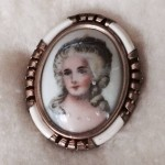 Limoges Portrait Pin, photo by Caryn