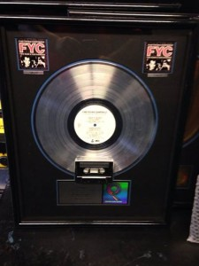 Fine Young Cannibals Double Platinum Record, photo by Caryn