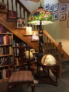 Landmark Booksellers Staircase Sitting Area, photo by Caryn