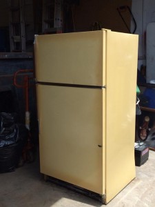 Vintage 70s Sears Coldspot Refrigerator, photo by Caryn