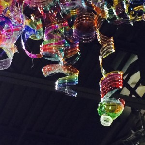 Repurposed Plastic Bottle Sculpture, photo by Caryn