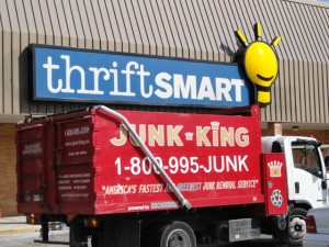 Junk King Truck at ThriftSmart, Nashville, photo by Caryn