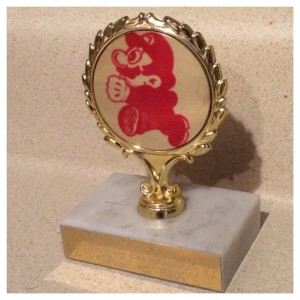 Super Mario Nintendo Trophy, photo by Caryn